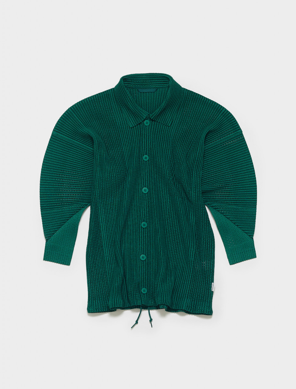 HP16JC140-62 HOMME PLISSE ISSEY MIYAKE PLEATED BLOUSON IN GREEN