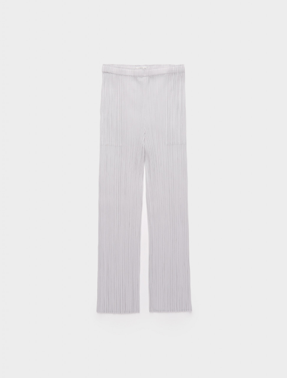 286-PP08JF111-10 ISSEY MIYAKE PLEATS PLEASE TAPERED CROPPED TROUSERS LIGHT GREY