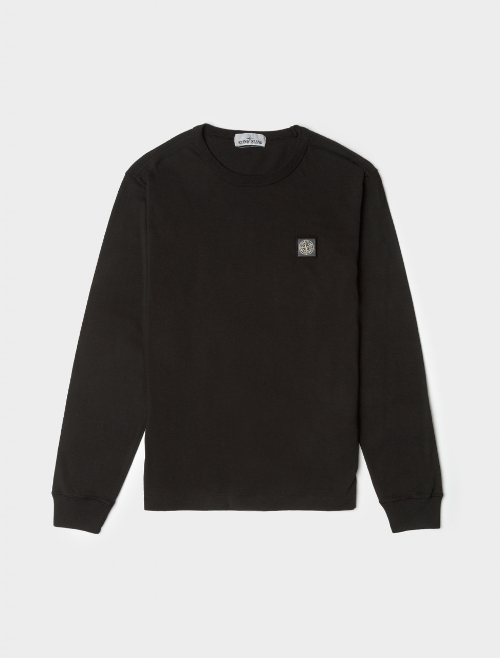Fissato Dyed Long Sleeve T-Shirt in Black