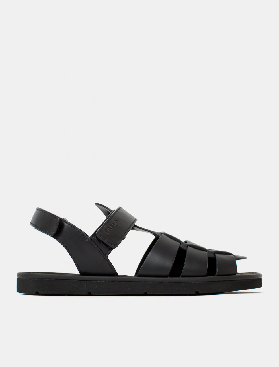 Leather Sandal in Black