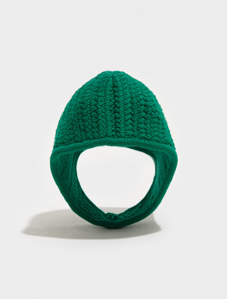 MMZ342_1ZUO_F0223 MIU MIU Knitted Hood in Mint