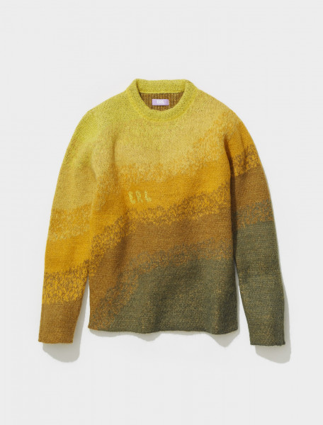 ERL03N006_1 ERL BOWY MOHAIR KNITTED SWEATER IN YELLOW