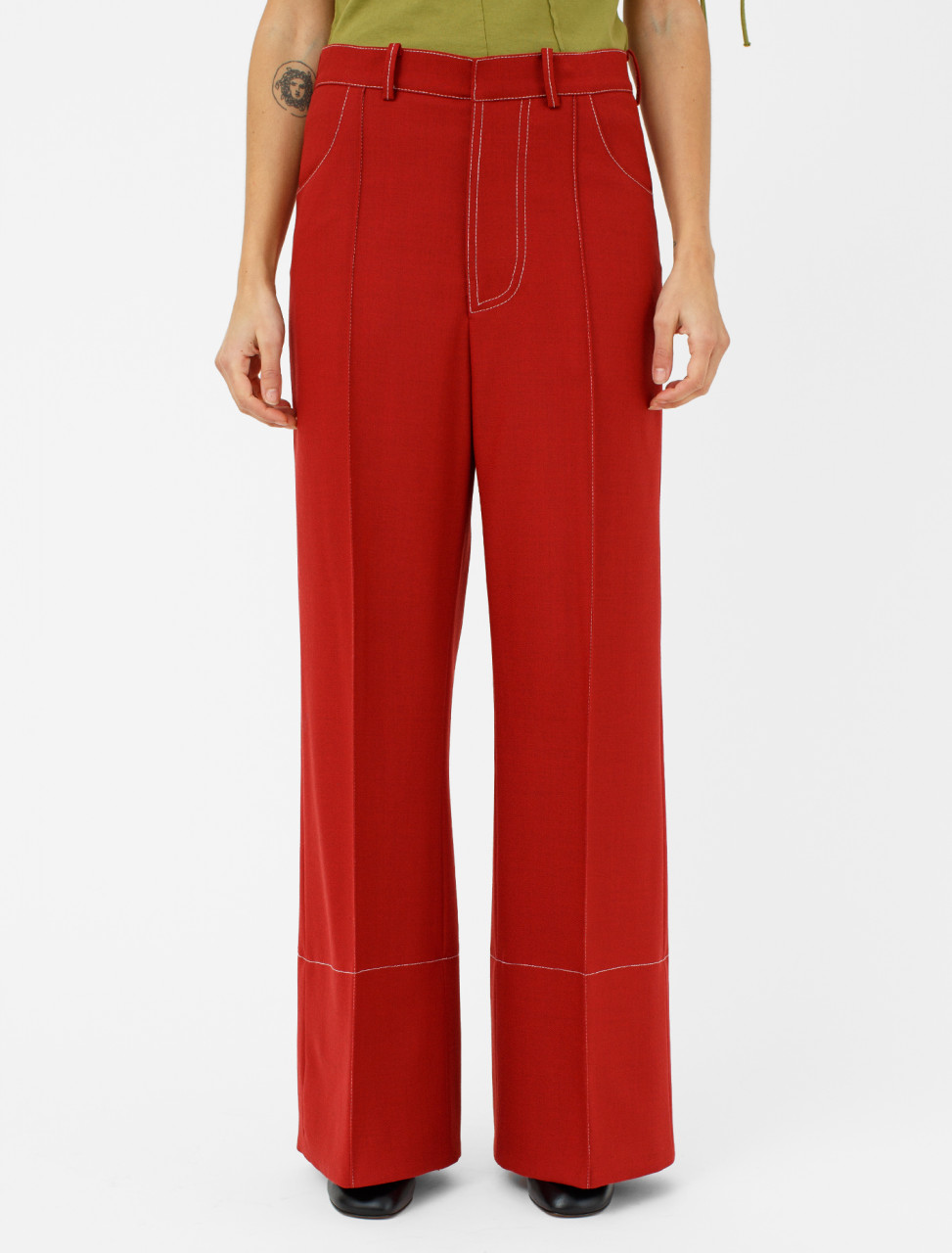 Trousers in China Red