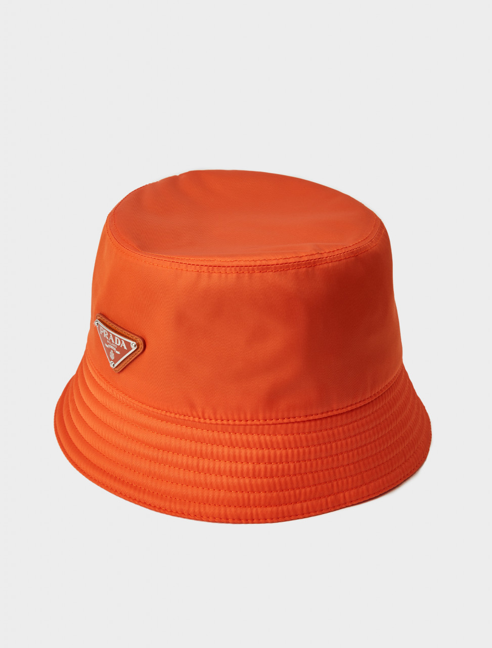 Prada Nylon Rain Hat in Orange