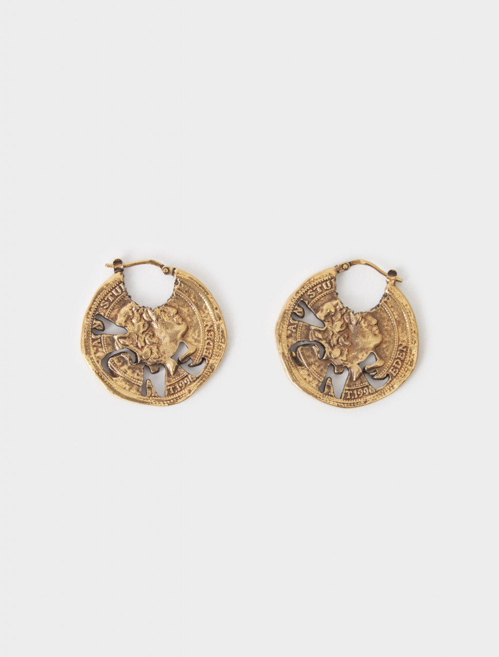 C50197-BYK ACNE STUDIOS EARRING ANTIQUE GOLD