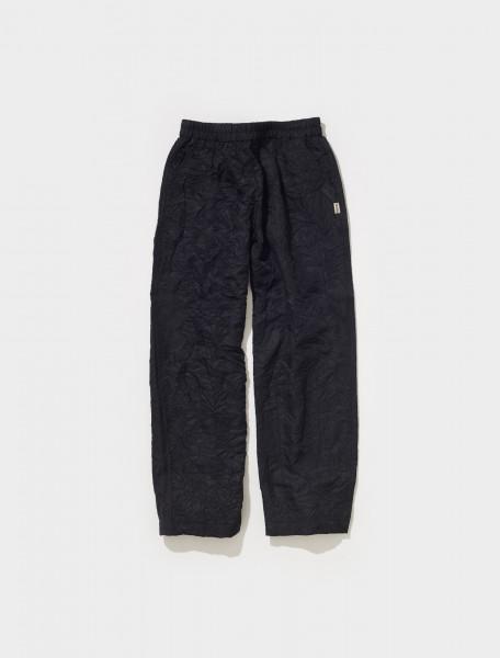216117 0001 STUSSY RALPHIE BIG CRINKLE PANTS IN BLACK