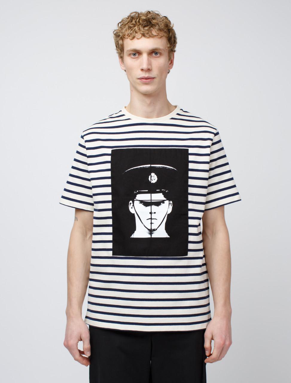 x Gilbert & George Policeman Print Short Sleeve T-Shirt