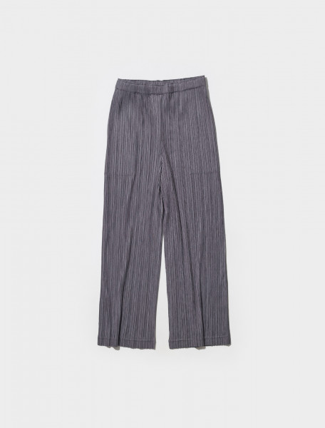 PP18JF425 17 PLEATS PLEASE ISSEY MIYAKE PLEATED TROUSERS IN DARK GRAY