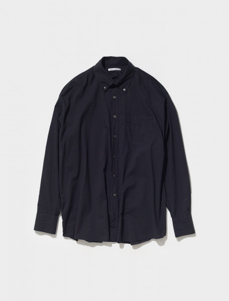 MR192BB OUR LEGACY BORROWED BD SHIRT IN BLACK VOILE