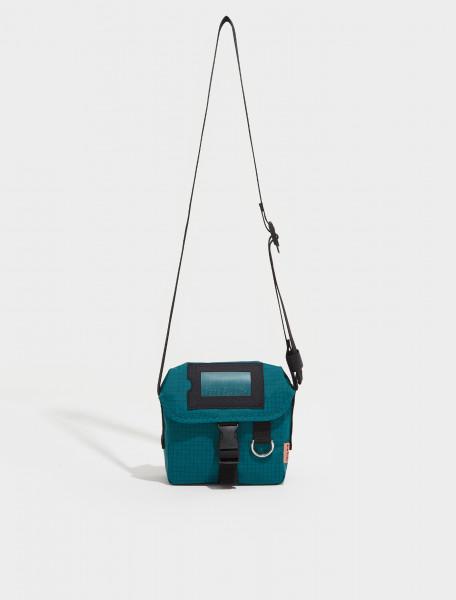 C10106 AAP FN UX BAGS000073 ACNE STUDIOS Messenger Mini Post Ripstop Bag in Turquoise Blue