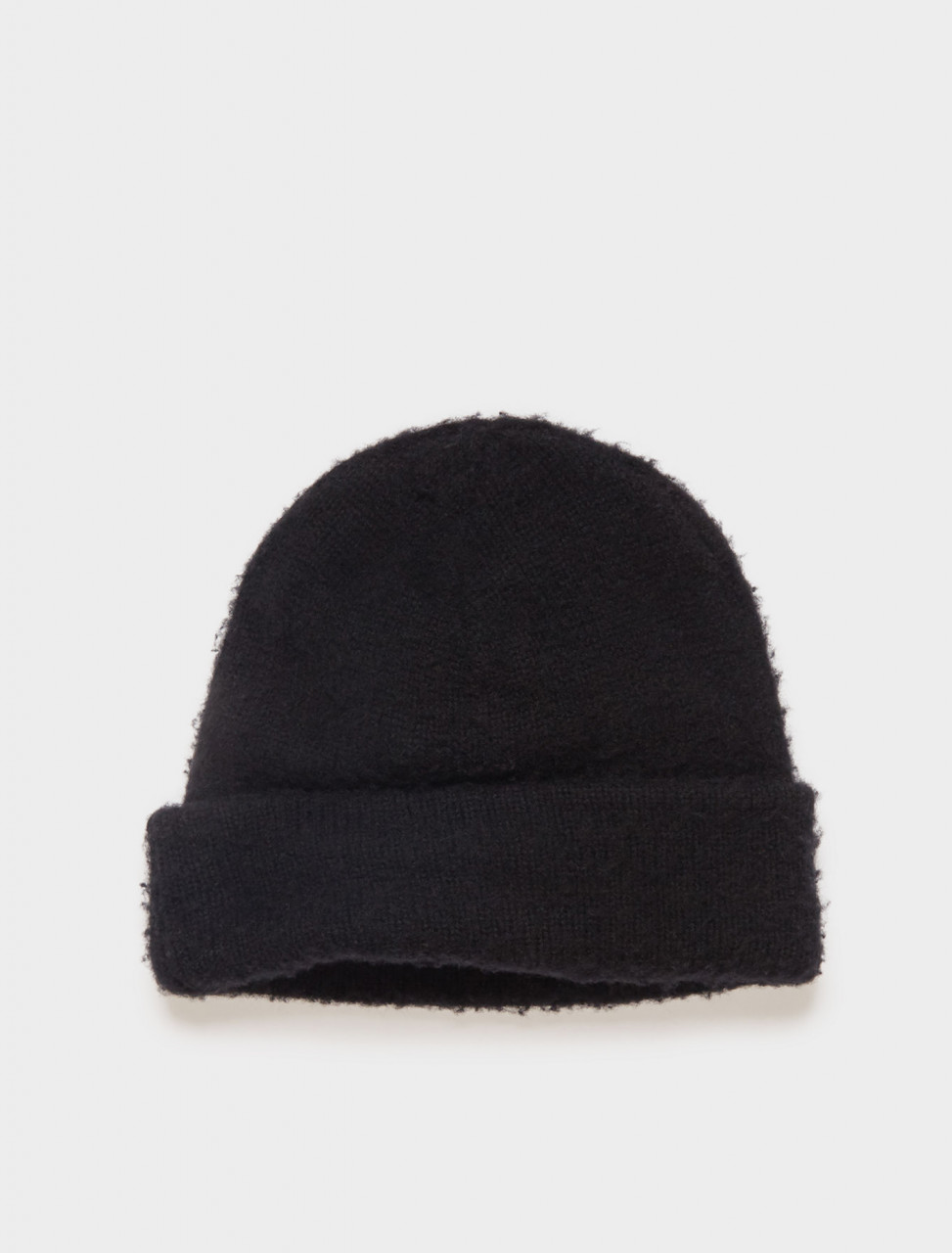 110-C40111-900 ACNE STUDIOS PILLED TEXTURE BEANIE BLACK