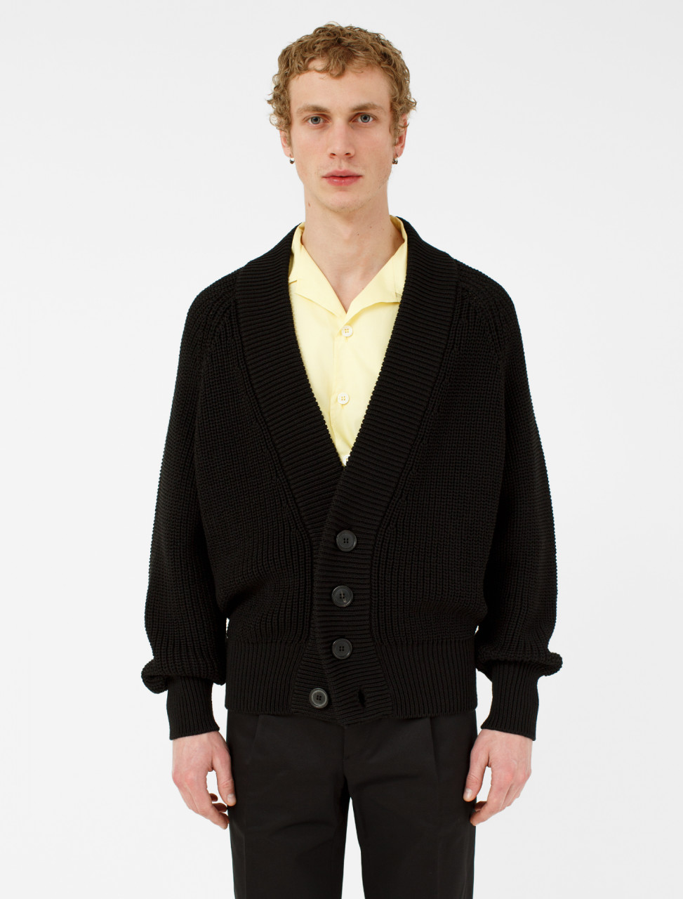 Cotton Cardigan in Black