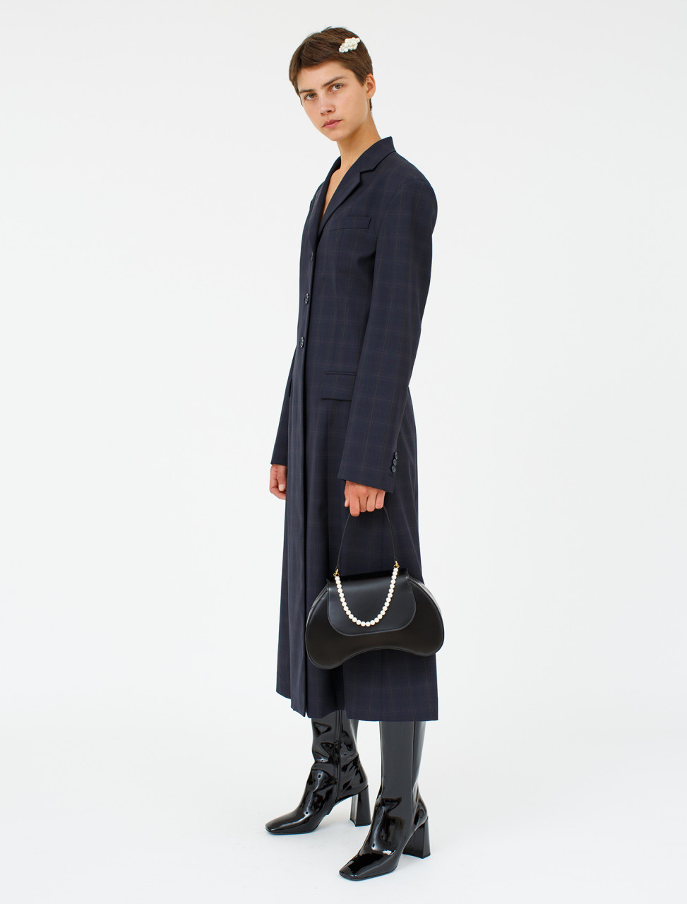 Blue Check Coat