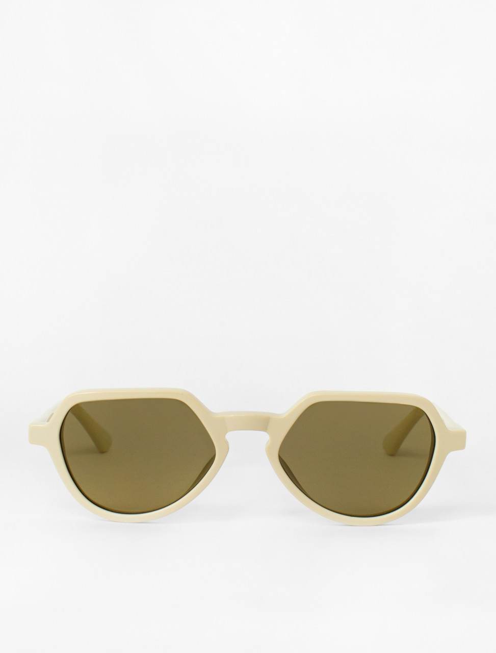 Cat-Eye Sunglasses in Ivory Colour