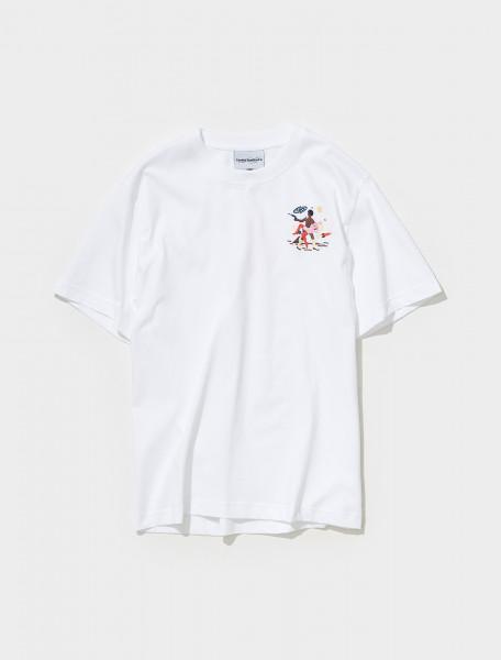 AW21TS02 WHITE CARNE BOLLENTE INTERSEXSTELLAR T SHIRT IN WHITE
