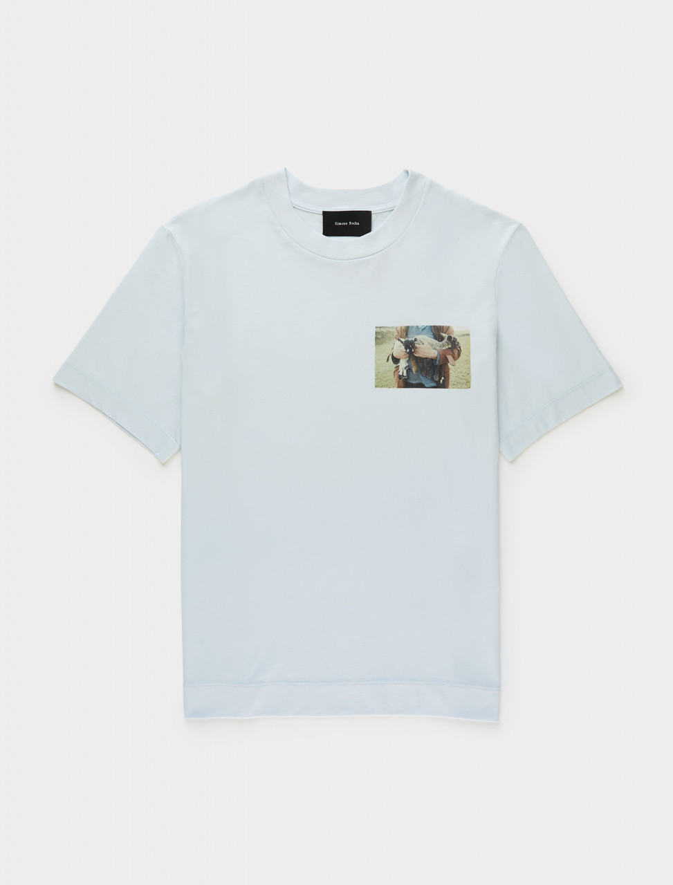 Simone Rocha Lamb Print Boy T-Shirt in Baby Blue