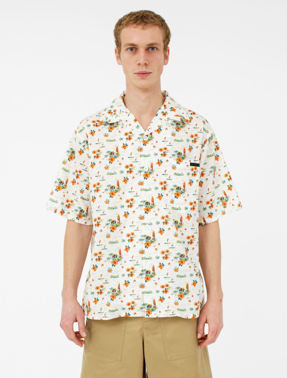 Prada Hawaii Microcomics Poplin Shirt