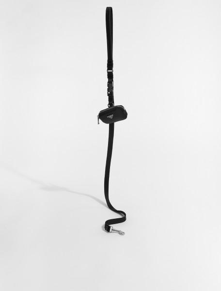 2YG008-F0002 PRADA NYLON LEASH WITH POUCH IN BLACK