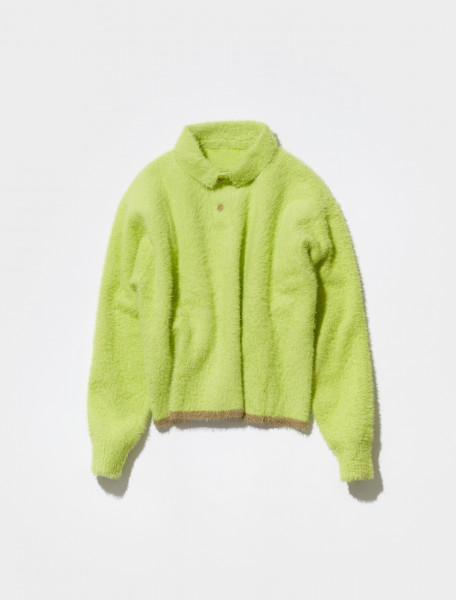 216KN61 216 239203 JACQUEMUS LE POLO NEVE IN YELLOW
