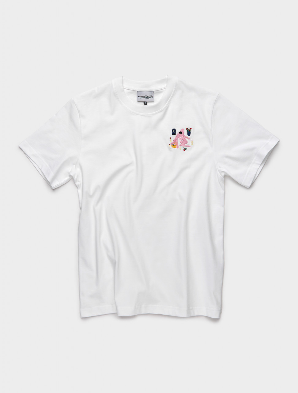 PRESS21TS03-W CARNE BOLLENTE EYES WIDE CHEAT T SHIRT WHITE