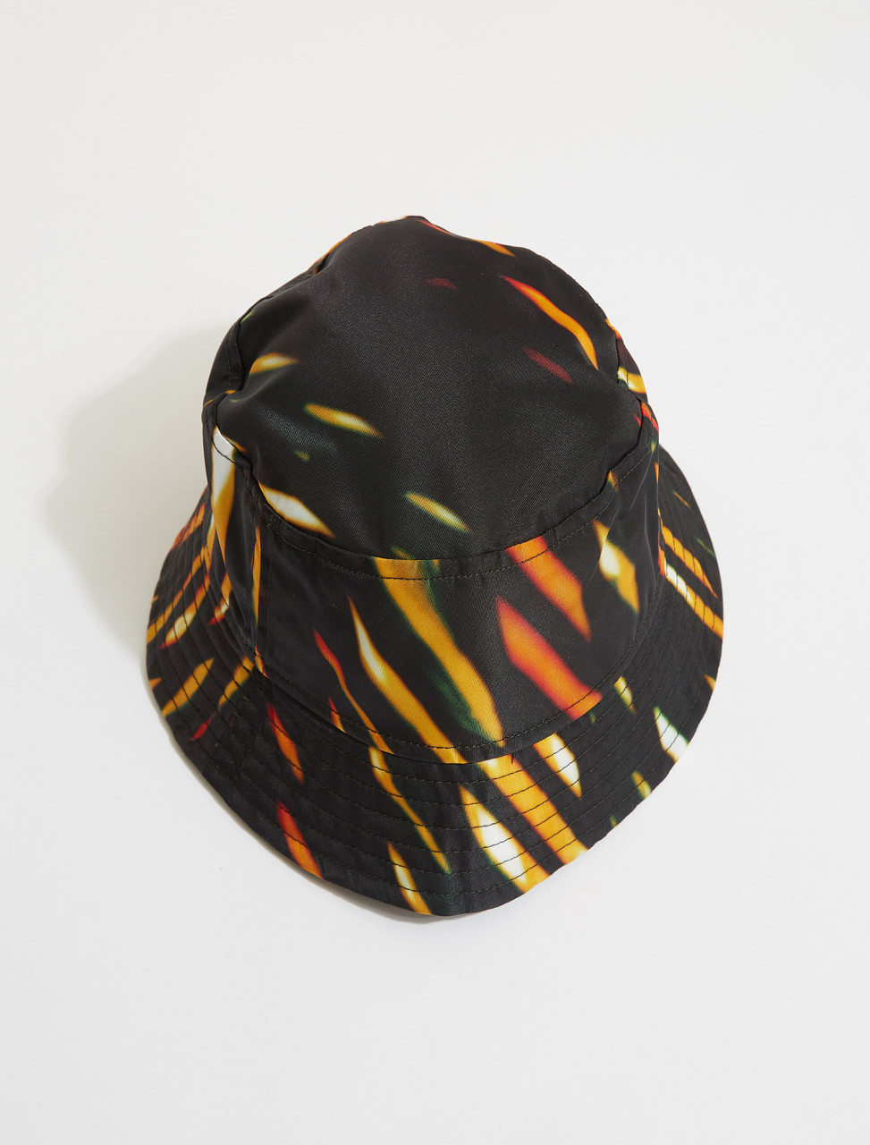 211-29503-2006-977 DRIES VAN NOTEN GILLIAN LIGHT PANELS PRINT BUCKET HAT IN BLACK