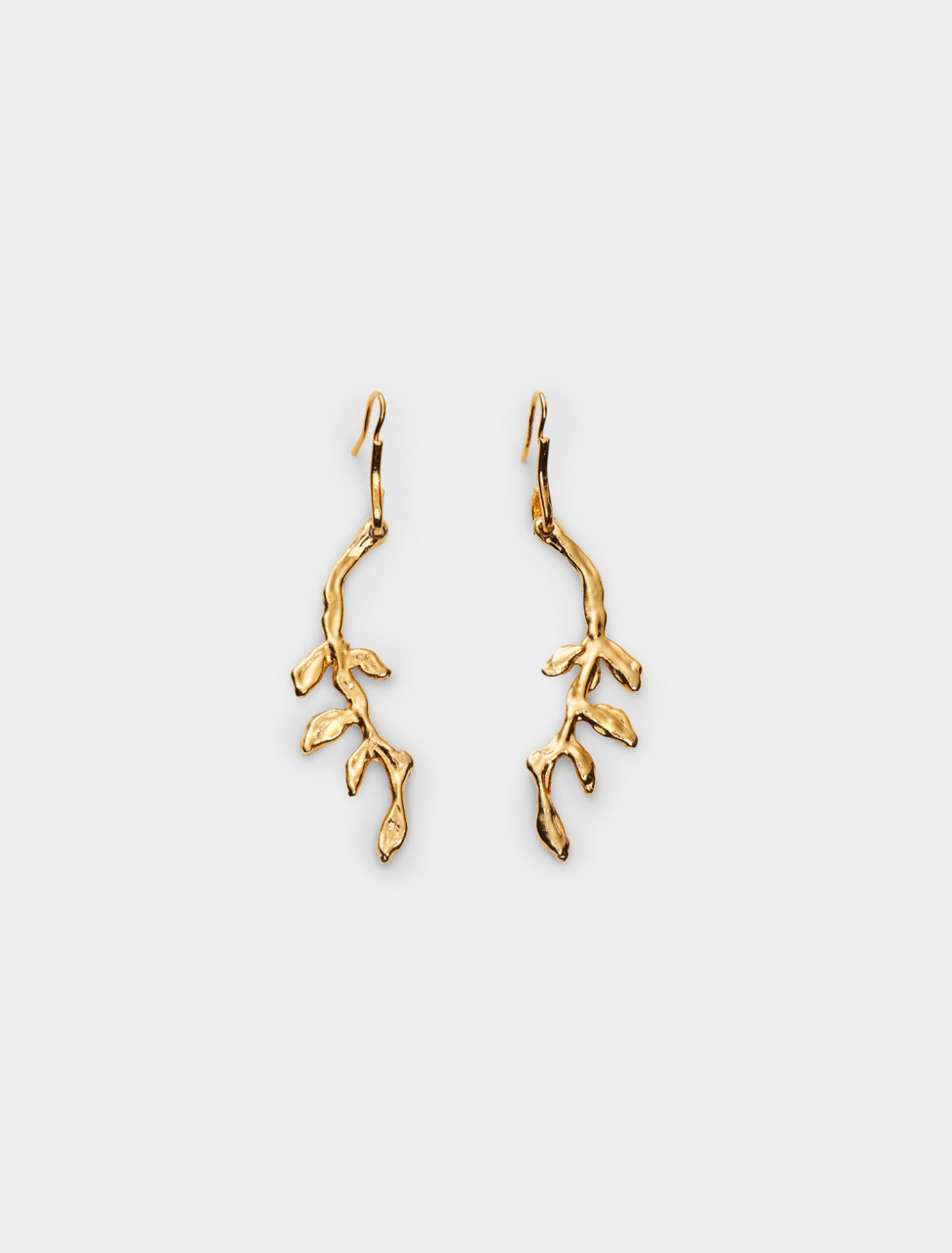 137-ORMV0189A0-M2000-00Y65 MARNI BRASS TWIG EARRINGS