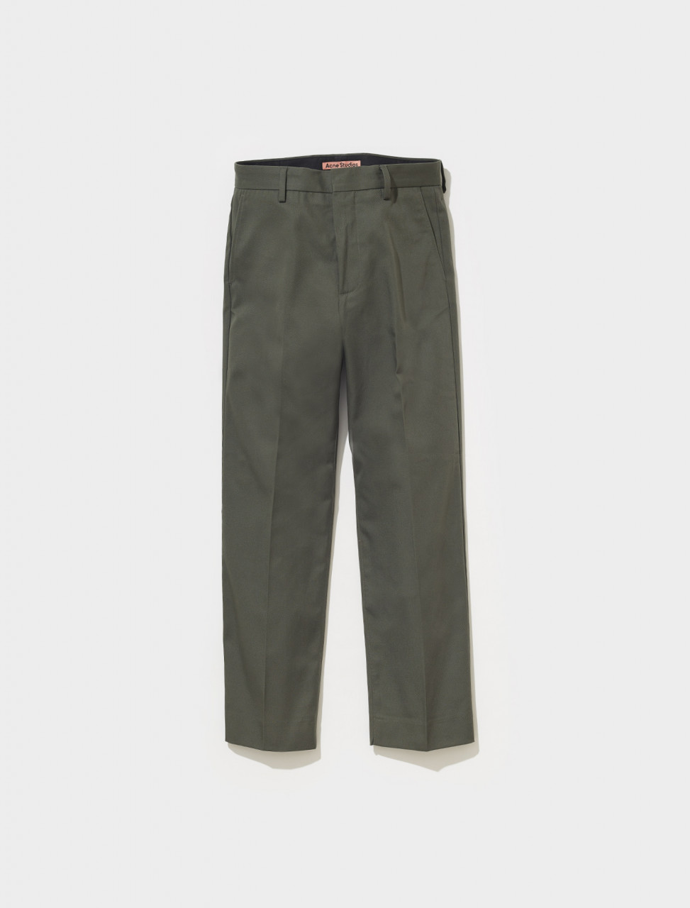 BK0423 AA7 FN MN TROU000515 ACNE STUDIOS AYONNE COTTON MIX TWILL TROUSERS IN STONE GREY