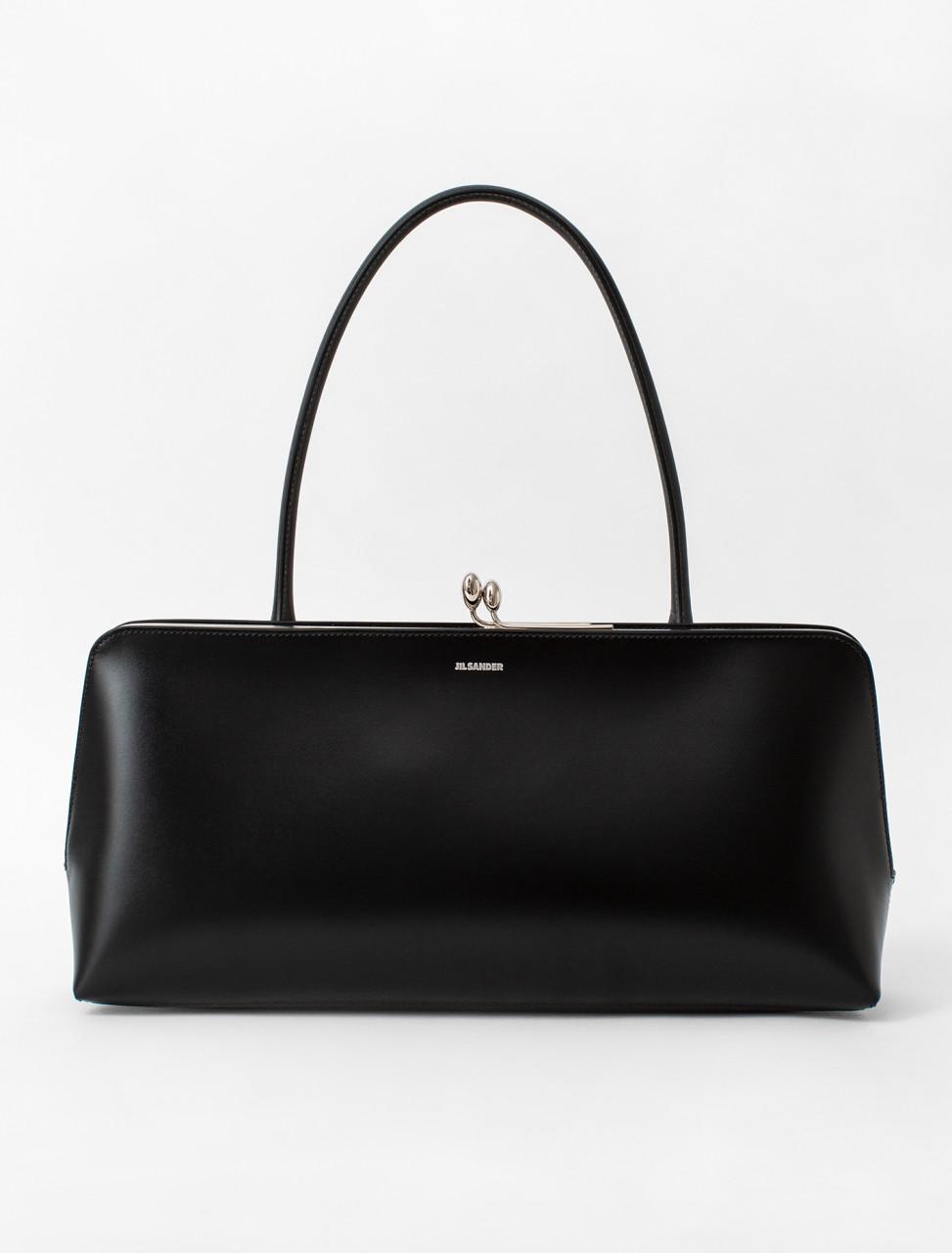 Calfskin Frame Bag in Black