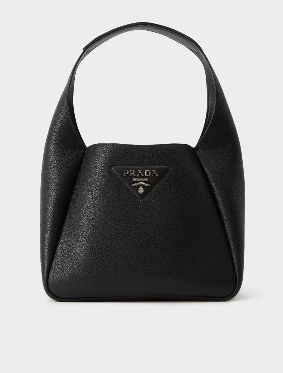 1BC127-2BBE-F0002 Prada Leather Bucket Bag in Black