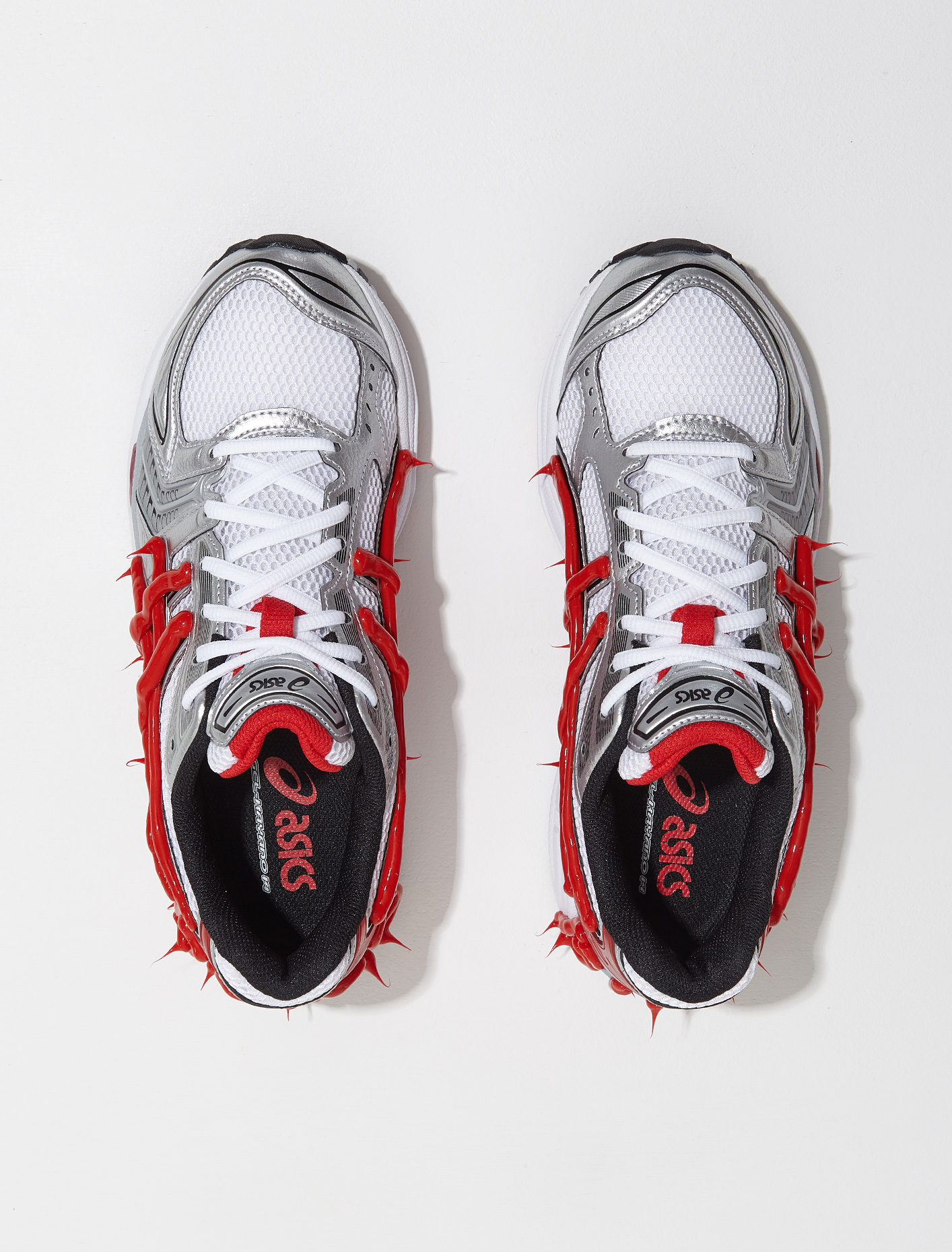 1201A019 103 ASICS GEL KAYANO 14 WHITE CLASSIC RED