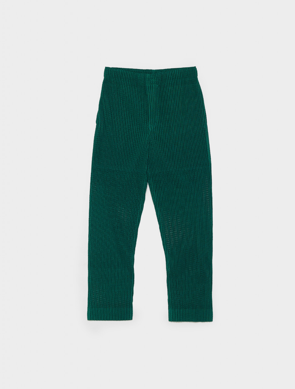 HP16JF147-62 HOMME PLISSE ISSEY MIYAKE PLEATED TROUSERS IN GREEN
