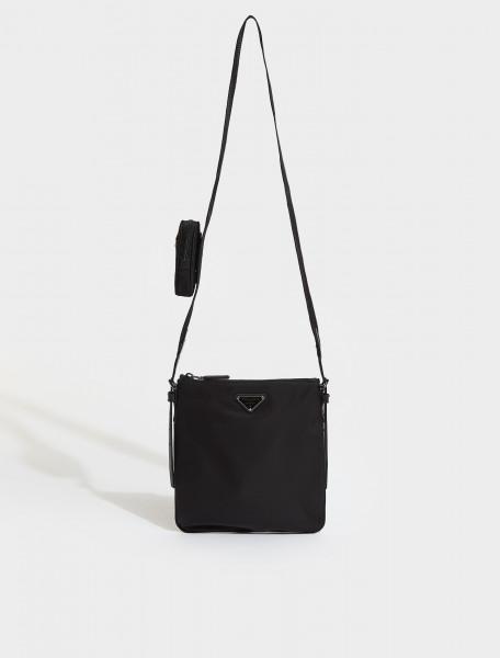 2VH124-F0002 PRADA BANDOLIERA BAG IN BLACK