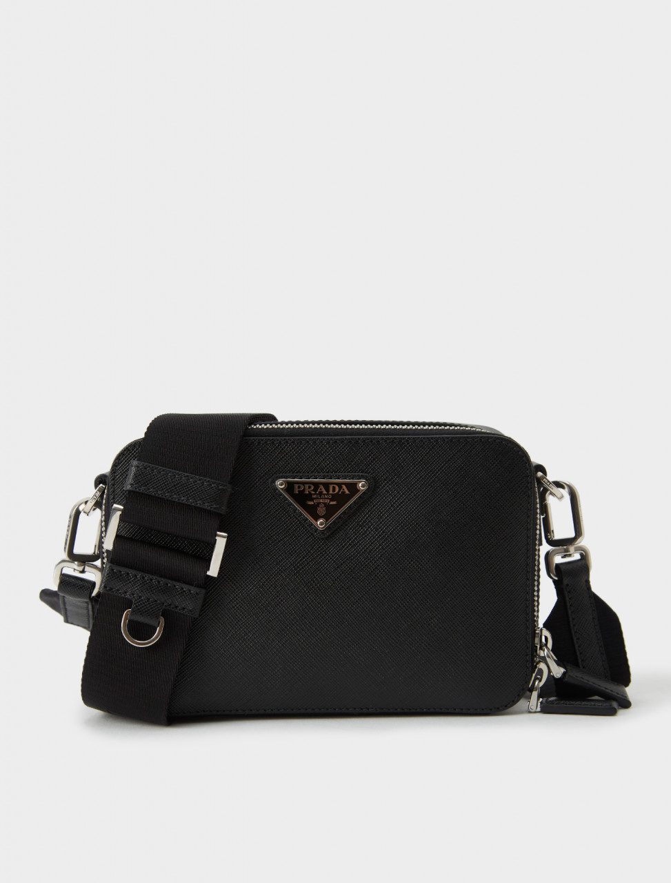 2VH070-9Z2-F0002 Prada Black Saffiano Leather Cross-Body Brique Bag