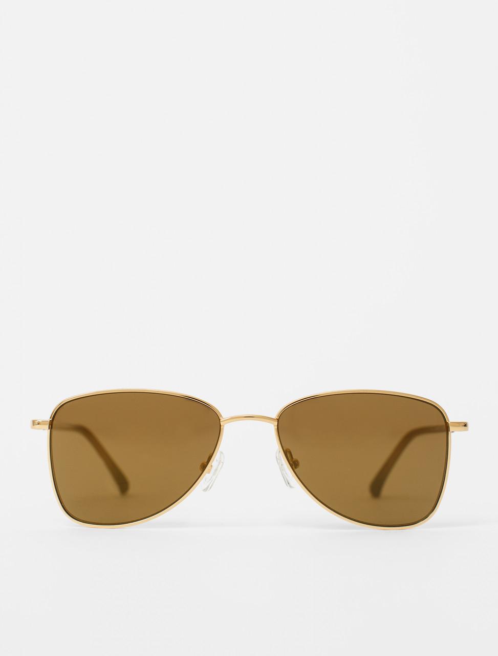 Steel Frame Sunglasses in Gold