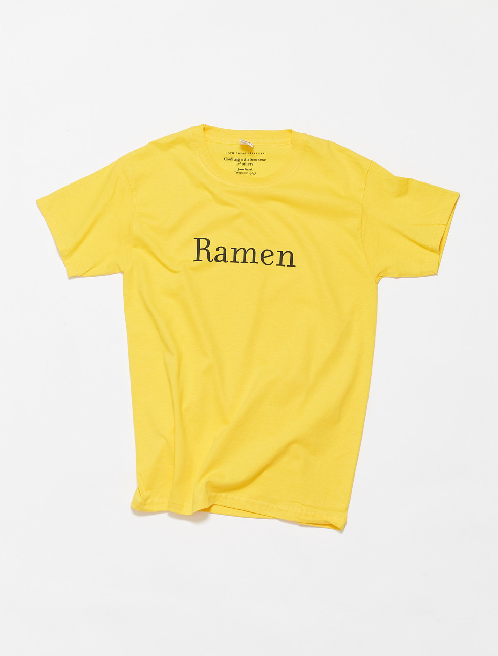 RAMEN-YEL HATO PRESS RAMEN T-SHIRT YELLOW
