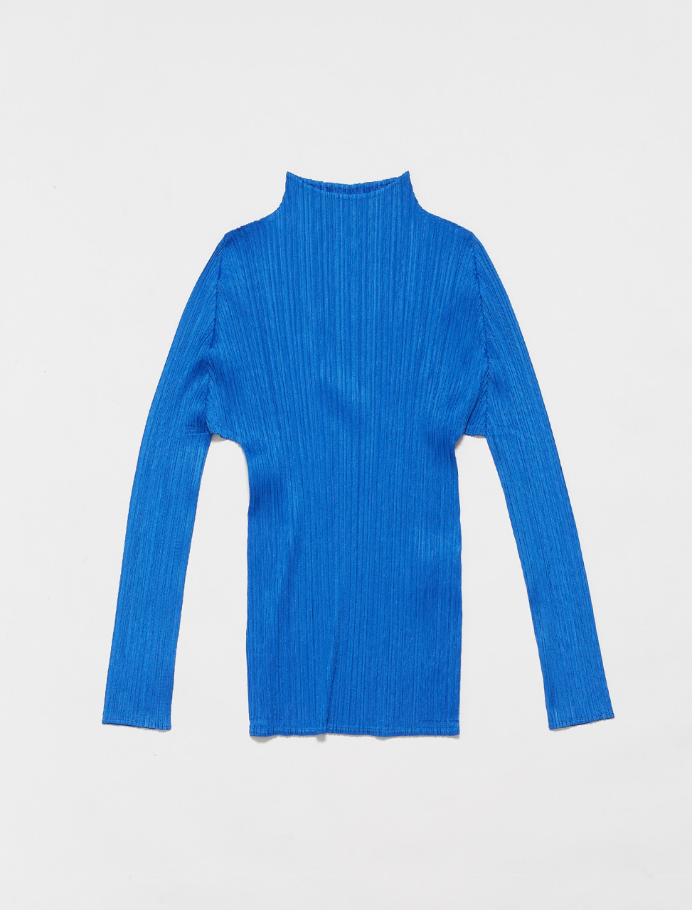 PP16JK904-72 PLEATS PLEASE ISSEY MIYAKE HIGH NECK TOP IN BLUE
