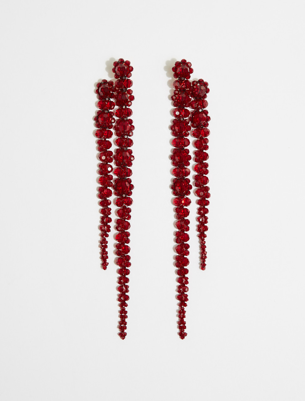 ERG221-0903-BR SIMONE ROCHA DOUBLE DRIP EARRING BLOOD RED