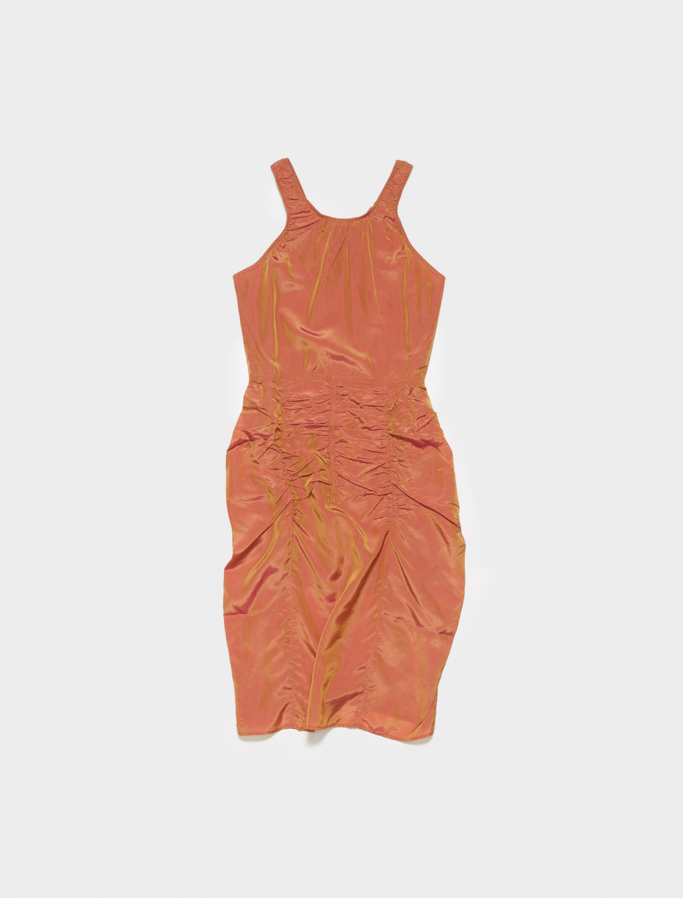 A20277-AOW ACNE STUDIOS DAI CHANGEANT DRESS IN RED ORANGE