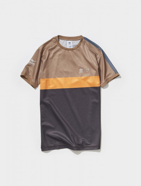 HA9995 ADIDAS HUMAN MADE GRAPHIC T SHIRT IN BROWN