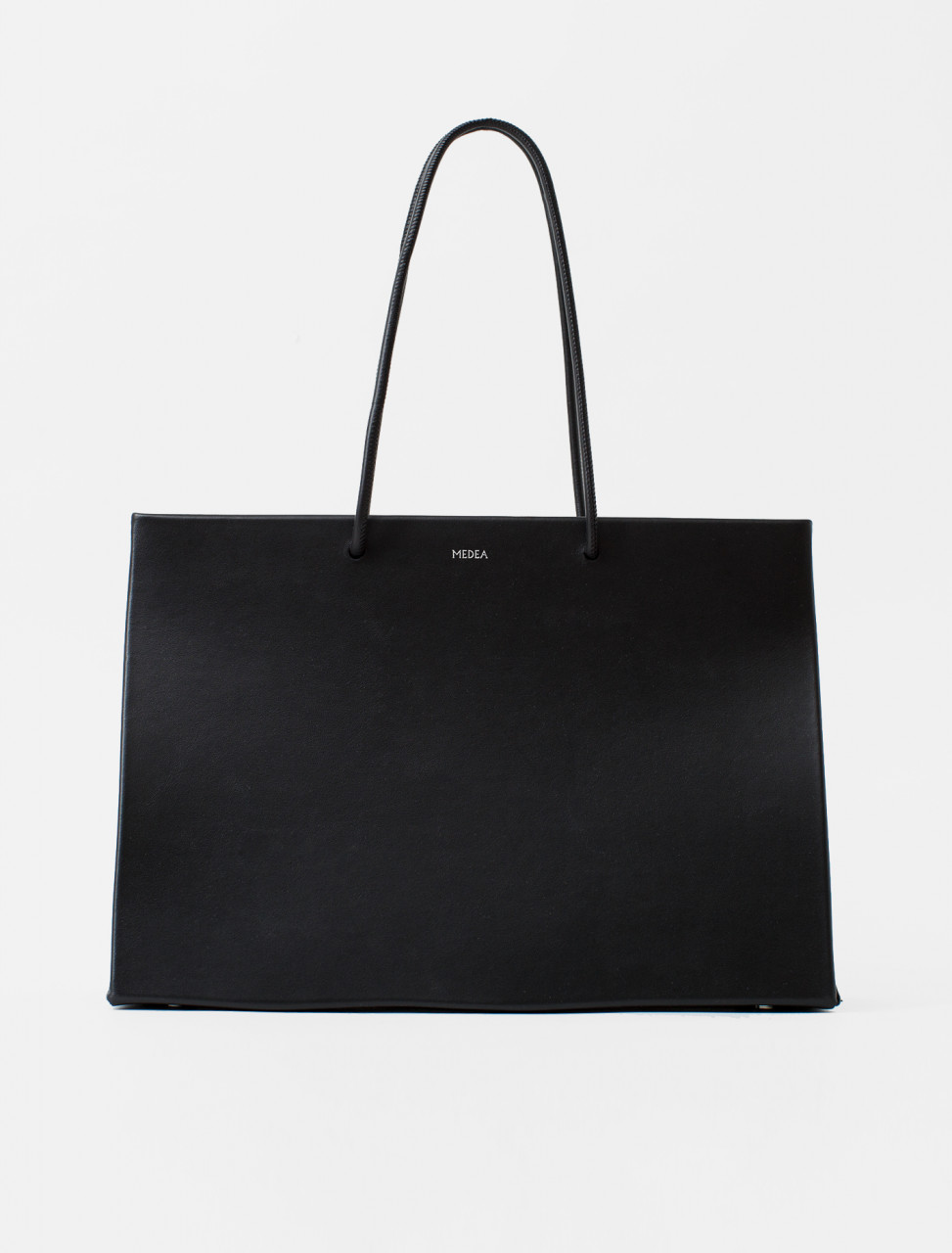 Dieci Leather Tote in Black