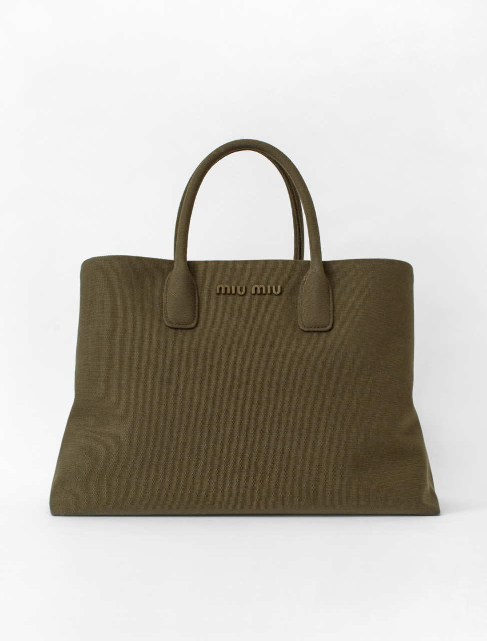 Fabric Handbag in Militare
