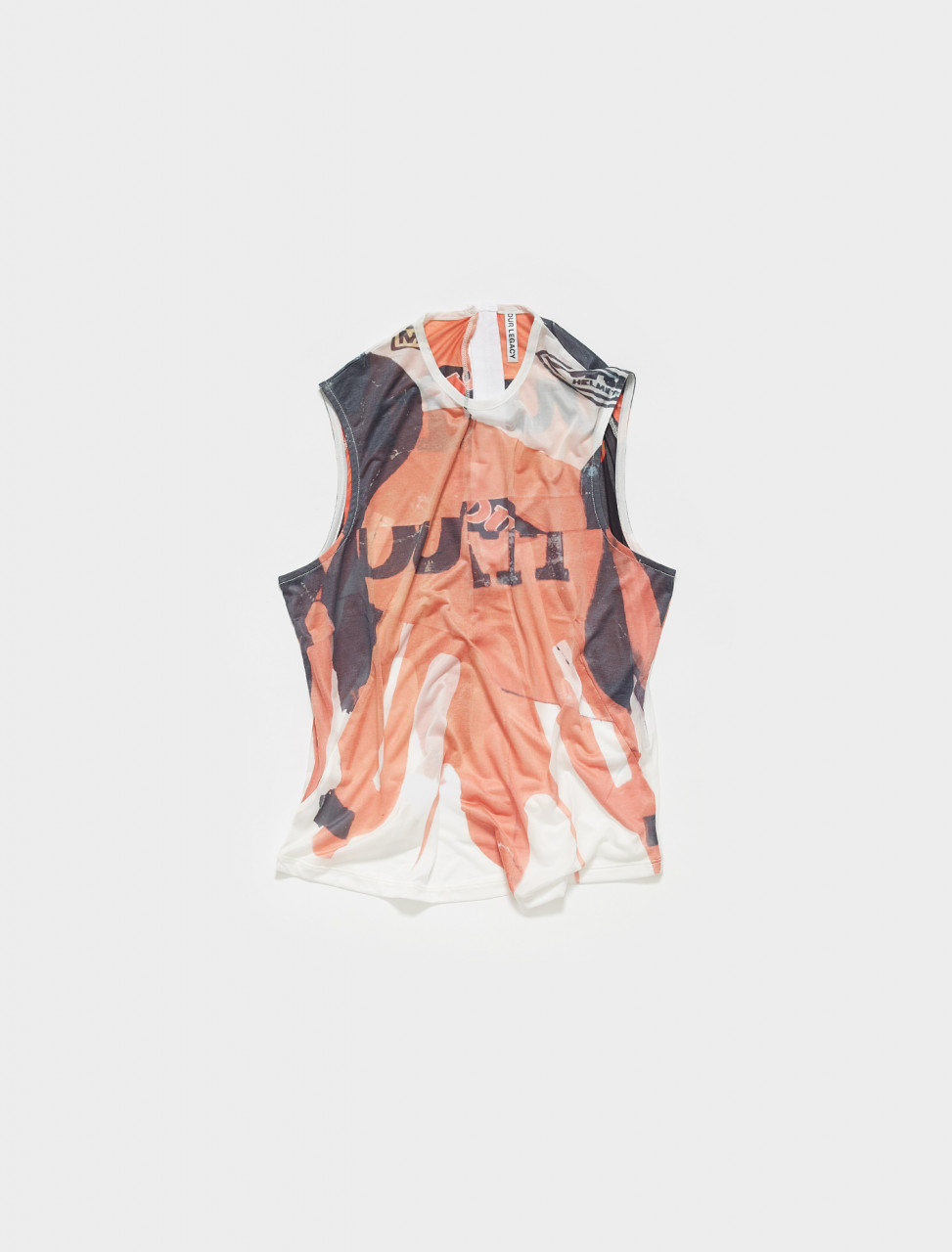W2216BC OUR LEGACY BOX TOP IN BIKER PRINT