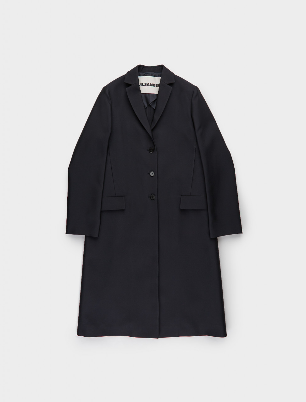 130-JSER110022-WR470300-401 JIL SANDER Essential Coat in Dark Blue