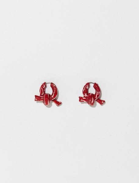 C50221 AZT FN UX JEWE000234 ACNE STUDIOS APEPE EARRINGS IN BRIGHT RED