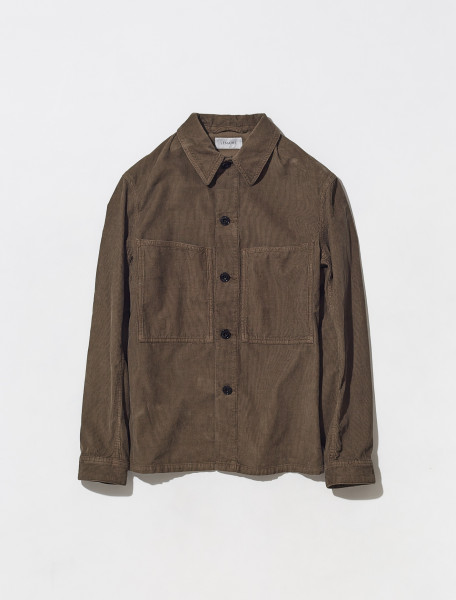 M 213 OW188 LF638 475 LEMAIRE OVERSHIRT IN BROWN