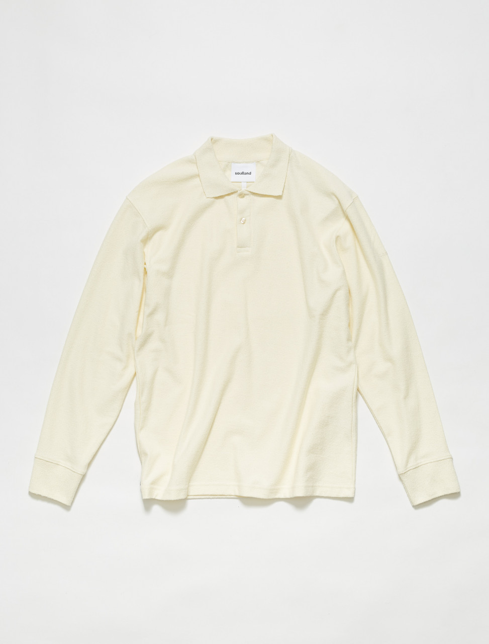 1063-1068 SOULLAND ROBERT LONG SLEEVE POLO LEMON