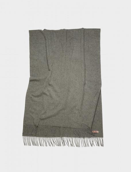 110-CA0102-990 ACNE STUDIOS Oversized Wool Scarf in Grey Melange