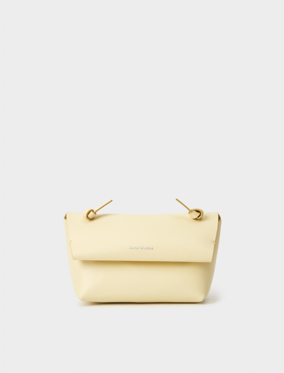 CG0151-ABV ACNE STUDIOS KNOTTED STRAP PURSE VANILLA YELLOW