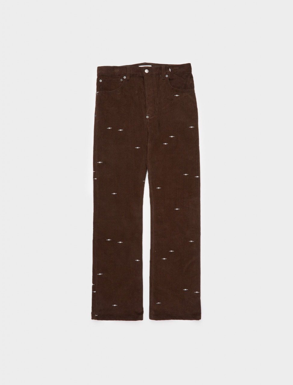 261-PHFW20-P18 PHIPPS STAR LOGO CORDUROY BOOT CUT JEAN BARK BROWN