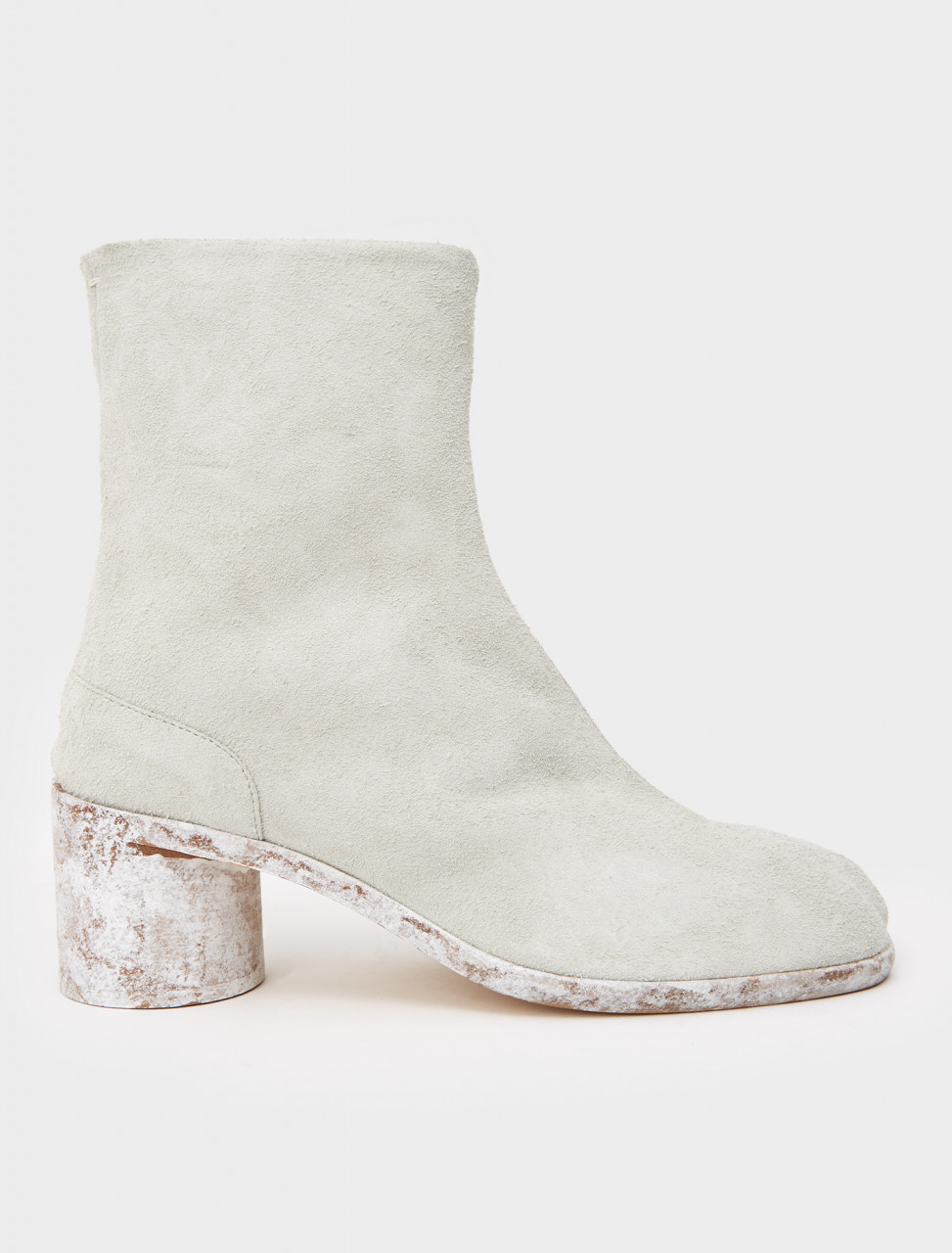 256-S57WU0132-P3713-H8319 MAISON MARGIELA TABI SUEDE BOOTS WHITE